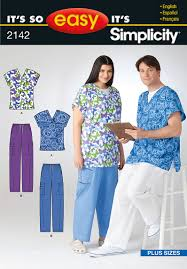 Scrub Top Patterns Cool Simplicity 48 Women And Men's Scrub Top And Pants