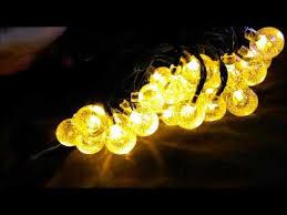 Solar Globe String Lights Loende Waterproof 21FT 30 LED 8 Modes
