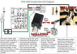 1982 corvette horn circuit wire diagram 1976 Corvette Fuse Box Connectors 82 Corvette Fuse Box