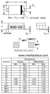 Diode Case Packages Do 123 Style Sod 123 Surface Mount Package