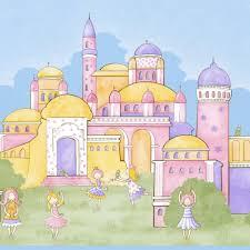 rasch princess extra wide wallpaper border pink blue green 122305