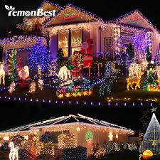 Rgb Outdoor Christmas Lights Us 4 46 5 Off Rgb 7w 10m 100 Led Indoor Christmas Lights Outdoor String Strip Light Christmas Tree Decorations For Home Party 8 Mode 110v 220v In
