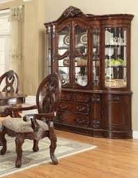 China Cabinet With Hutch Acme 04079 Chateau De Ville Cherry Hutch Buffet China Cabinet