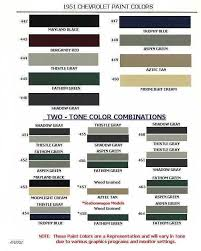 Vw Spring Color Chart Auto Paint Codes Chevrolet Paint Codes 1946 1954 Paint