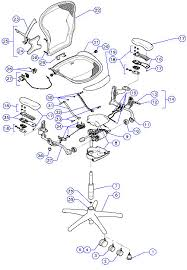 office chair parts. Herman Miller Aeron Home Office Ergonomic Chair Parts, Accessories And Service Parts