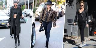 Cute winter women airport outfits ideas Gigi Hadid 16 Foolproof Ways To Wear Leggings Marie Claire 16 Best Leggings For Women 2018 Cute Leggings Outfit Ideas
