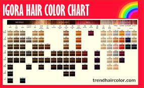 Igora Hair Color 16311 Schwarzkopf Igora Hair Color Chart