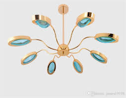 modern gold metal chandelier 6 8 heads led glass suspension art deco luminaire for study living room decor home lighting g887 contemporary chandeliers