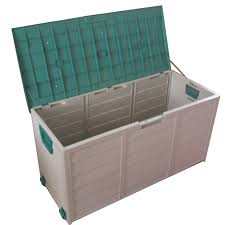 outdoor storage boxes plastic. new garden outdoor plastic utility storage chest shed box case container wheels boxes ebay