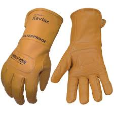 youngstown fr waterproof leather gloves lined with kevlar