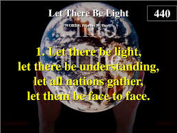 Let There Be Light Verse Ppt Let There Be Light Verse 1 Powerpoint Presentation