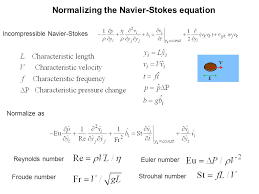 normalizing the navier stokes equation conservation laws for continua ppt