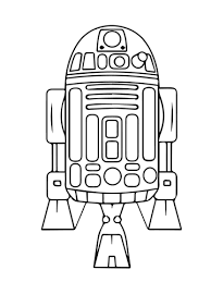 Small Picture Astromech Droid R2 D2 coloring page Free Printable Coloring Pages