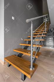 Simple Wood Stairs Design New Home Interior In Grey With Simple Wooden Staircase White