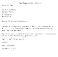 Contribution Letter Thank You Letter For Your Donation