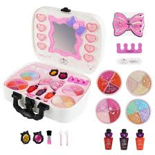 2019 new s make up set toys children pretend play toys little princess set case cosmetic makeup tools kit beauty hair salon toy from wind