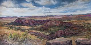 fort davis in days gone by is a 10 x 20 pastel landscape painting