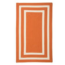 home decorators collection griffin border orange white 2 ft x 3 ft braided