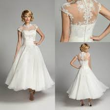 Wedding Dresses Short Length With Sleeves