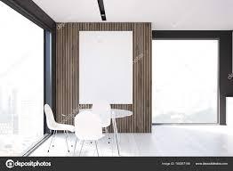 Grau Und Holz Esszimmer Weiß Stockfoto Denisismagilov