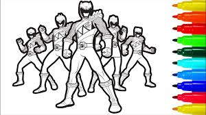 Power rangers s free printable3423. Power Rangers Dino Charge Coloring Pages Youtube