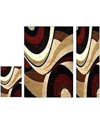 3 piece rug set glamorous outstanding area sets home with runner bathroom se