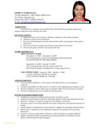 Resume Nursing Template Or Example Resume For Nurses Examples Of