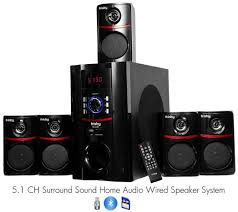 sound system with wireless speakers. amazon.com: frisby fs-5010bt 5.1 surround sound home theater speakers system with bluetooth usb/sd and remote: electronics wireless