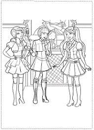 Disegni Da Colorare Di Barbie E L Accademia Delle Principesse Le