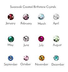 Birthstone Crystals Chart Birthstone Name Necklace Sterling Silver