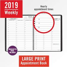 My Week At A Glance 2019 Weekly Planner Calendar Black Large Print