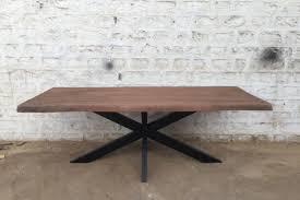 Baumkante Esstisch 200x100 Cm Mangoholz Massiv Mit X Gestell