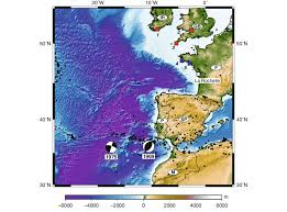 Free Bathymetric Charts Context Of The Studied Area Shown With Bathymetry From The