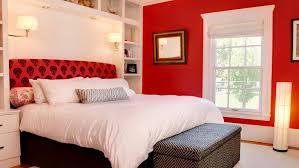 ... space When used in combination with white, red has the potential to  look really chic