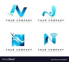 N Logo Design Vector Letter N Logo Design