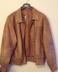 this peruzzi vera pelle tan leather jacket size medium