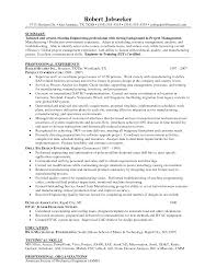 Alluring Mechanical Engineering Project Manager Resume for Senior  Management Executive Manufacturing Engineering Resume