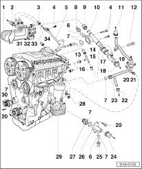 skoda workshop manuals > octavia mk2 > drive unit > engine 2 0 103 drive unit > engine 2 0 103 kw tdi pd 2 0 100 kw tdi pd > engine cooling > removing and installing parts of the cooling system > parts of the cooling