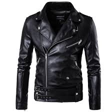 Designer Coats And Jackets 2017 Pu Leather Black Jackets For Men Short Cool Best