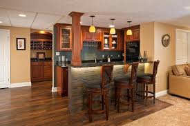 Image of: Basement Wet Bar Design