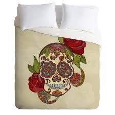 Skull Bedroom Accessories Valentina Ramos Sugar Skull Duvet Cover Deny Designs Home