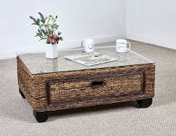 tribeca coffee table small brown rattan coffee table resin wicker patio coffee table wicker storage end table all weather wicker side table