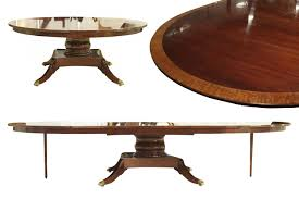 custom round mahogany dining table with extensions