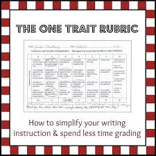 a simpler way to teach writing the one trait rubric using a straightforward rubric only 3 or 4 criteria makes it clear to students and parents why an assignment earned the grade it did