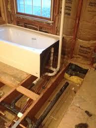p trap installation bathtub ideas
