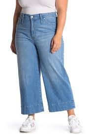 Madewell Wide Leg Cropped Jeans Plus Size Nordstrom Rack