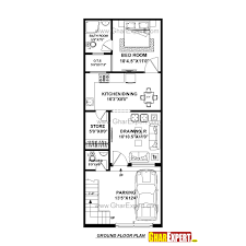 house plan for 17 feet by 45 feet plot plot size 85 square yards