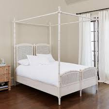 Stephanie Cane White Bamboo Canopy Bed
