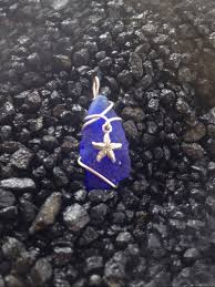 local hand made sea glass jewelry blue pendant with starfish 50 00