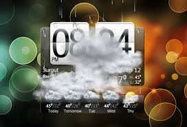 htc styled clock and weather gadget for
